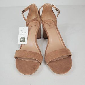 A New Day Womens Michaela Wide Width Pumps Taupe
